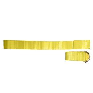 12 ceintures-fanions en nylon jaune