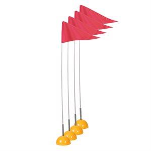 4 drapeaux de coin flexibles